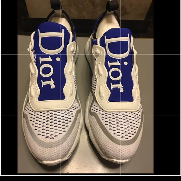 fb0156a39f08 Dior B21 Neo Trainer In White Blue Technical knit